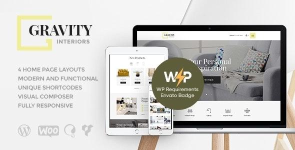 Gravity | A Contemporary Interior Design & Furniture Store WordPress Theme - Retail WordPress
