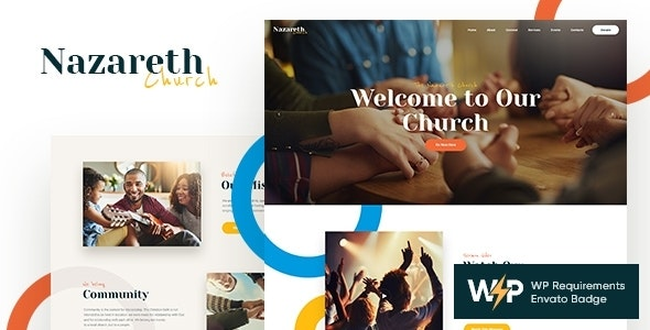 Nazareth   Church & Religion WordPress Theme - Churches Nonprofit