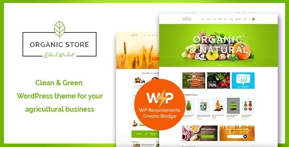 Organic Store | Eco Products Shop WordPress Theme + RTL - WooCommerce eCommerce