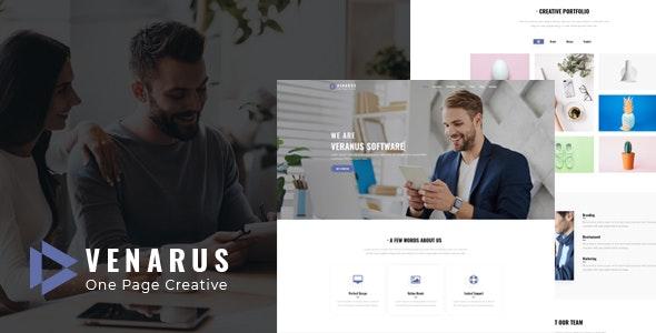 Veranus - One Page HTML Template - Creative Site Templates
