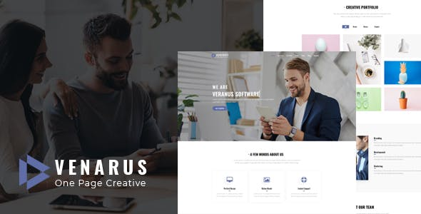 Download Veranus - One Page HTML Template