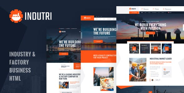 Indutri - HTML Template For Industry & Factory Business