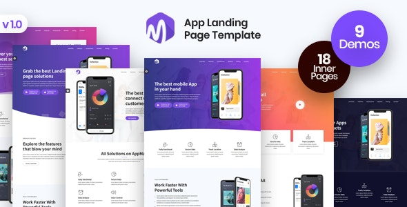 App Landing Page - AppMax - Software Technology