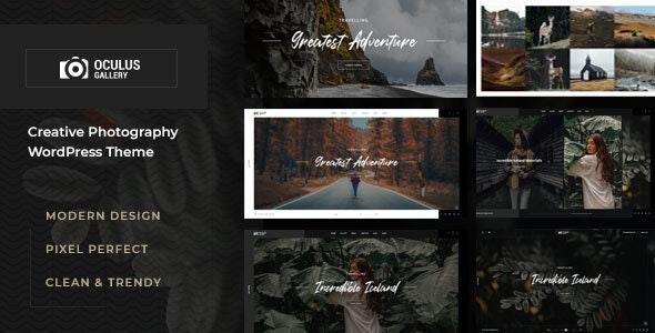 Oculus - Photography WordPress Theme - Photography Creative