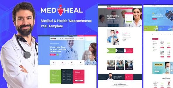 Medheal - Medical & Health ecommerce Template - Health & Beauty Retail