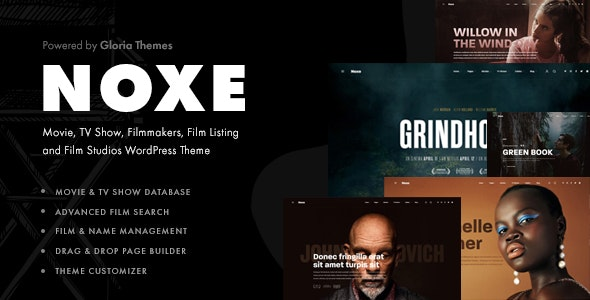 Noxe - Movie Studios and Filmmakers Theme - Film & TV Entertainment