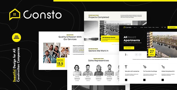 Consto | Industrial Construction Company Theme - Business Corporate