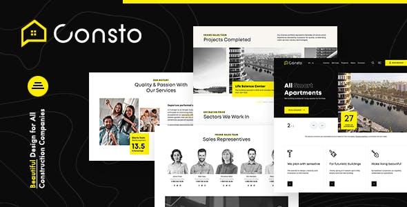 Consto   Industrial Construction Company Theme