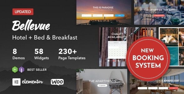 Hotel + Bed and Breakfast Booking Calendar Theme | Bellevue - Travel Retail