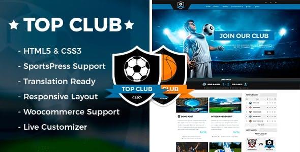 Top Club - Sports Theme for WordPress