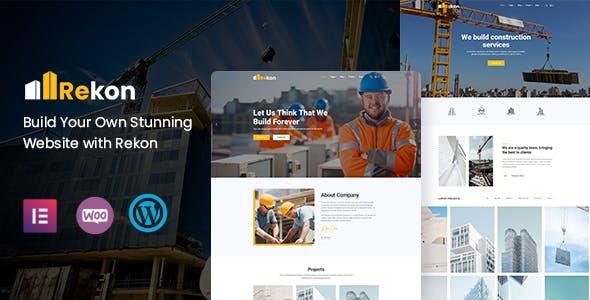 Rekon - Construction WordPress Theme