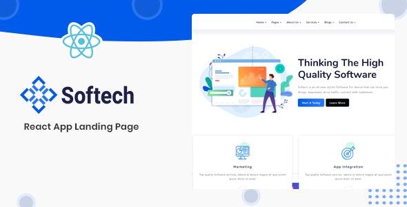 Softech - React App Landing Page - Software Technology