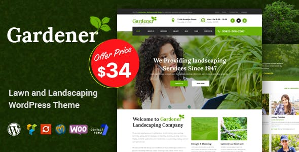 Gardener - Lawn and Landscaping WordPress Theme