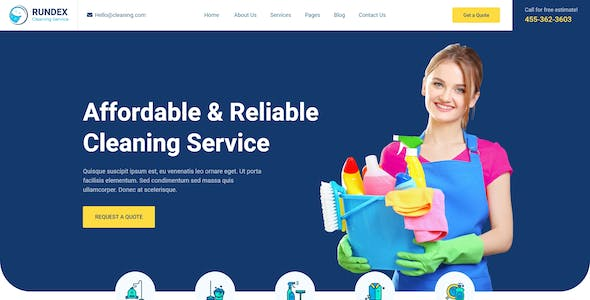 Rundex - Cleaning Company XD Template