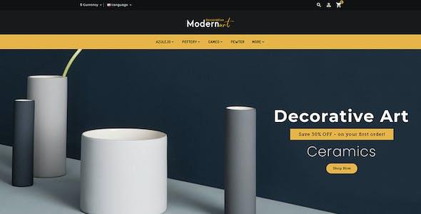 Modern Art - OpenCart Multi-Purpose Responsive Theme