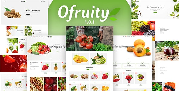 Ofruity - Organic Food/Fruit/Vegetables eCommerce Shopify Theme - Shopify eCommerce