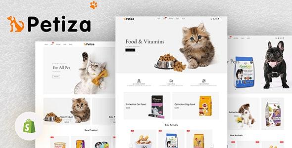 Petiza - Pets Food Shop Responsive Shopify Theme - Shopify eCommerce