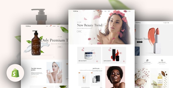 Venia - Beauty & Cosmetics Shop Responsive Shopify Theme - Shopify eCommerce