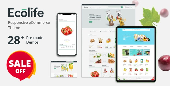 Ecolife - Organic, Food, Cosmetic & Multipurpose Prestashop Theme ...