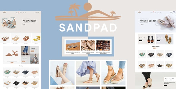Sandpad - Sandals And Footwear Shoes Responsive Shopify Theme - Shopify eCommerce