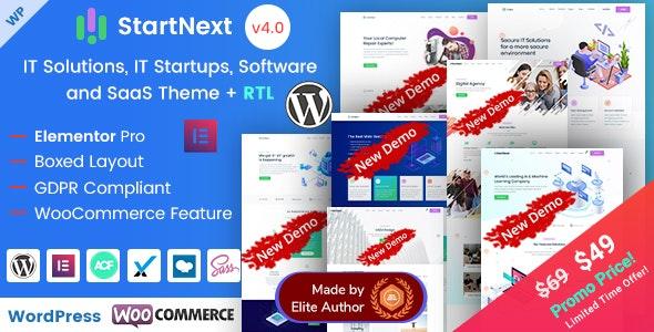 StartNext - Elementor IT & Business Startups WP Theme - Business Corporate