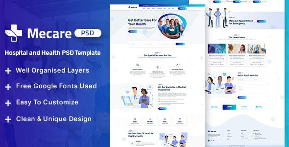 Mecare – Hospital and Health PSD Template - Health & Beauty Retail