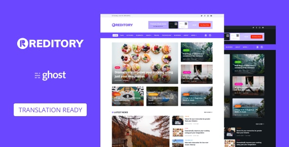 Reditory - News and Magazine Style Ghost Blog Theme - Ghost Themes Blogging