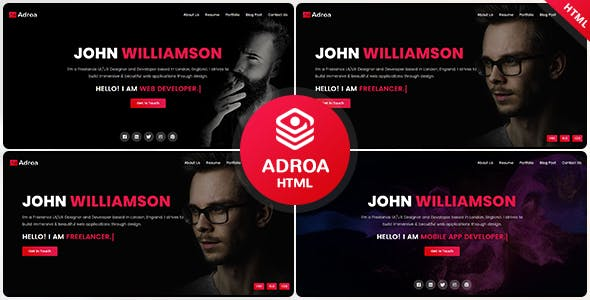 Download Adroa - Personal Portfolio Template