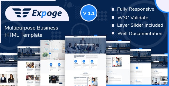 Expoge - Multipurpose Business HTML Template - Business Corporate