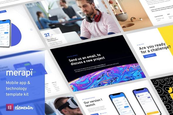 Merapi - Mobile App & Technology Template Kit - Business & Services Elementor