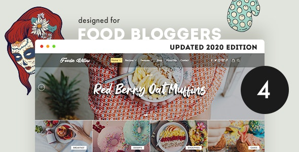Lahanna - Food Blog WordPress Theme - Personal Blog / Magazine
