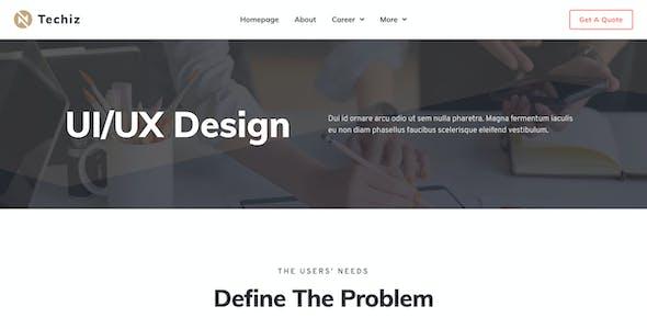 Techiz | Business & Startup Elementor Template Kit