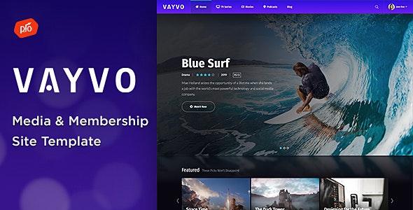 Vayvo - Media & Membership Site Template - Film & TV Entertainment