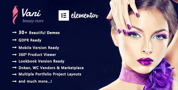 Vani | Cosmetic Beauty WooCommerce WordPress Theme - WooCommerce eCommerce