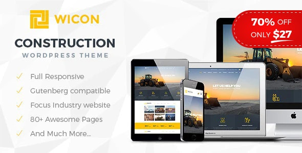Wicon | Constructions & Building WordPress Theme - Business Corporate