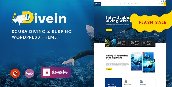 Divein - Scuba Diving & Surfing WordPress Theme - Travel Retail