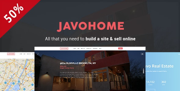 Javo Home - Real Estate WordPress Theme - Real Estate WordPress