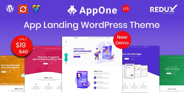 AppOne - App Landing WordPress Theme - Technology WordPress