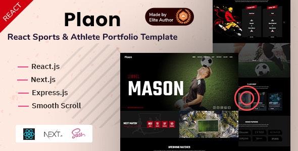 Plaon - React Sports & Athlete Portfolio Template - Personal Site Templates