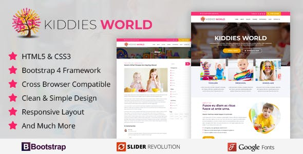 kiddies World - Responsive HTML Template