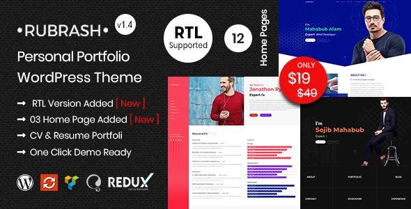 Rubrash - Personal Portfolio WordPress Theme - Portfolio Creative