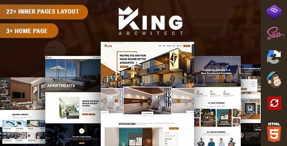 Download KingArchitect - Creative Interior Design Website Template