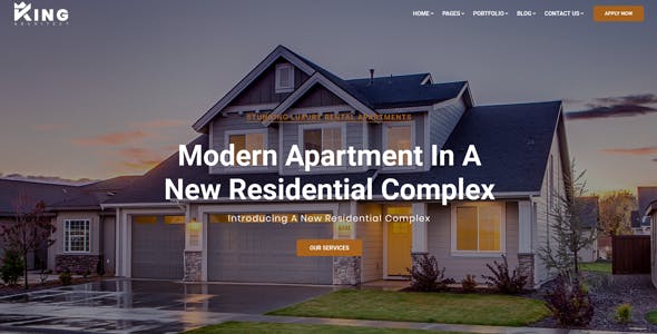 KingArchitect - Creative Interior Design Website Template