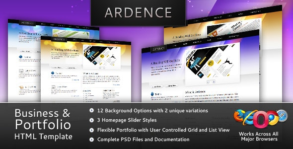 Ardence - Business & Portfolio Web Template - Creative Site Templates