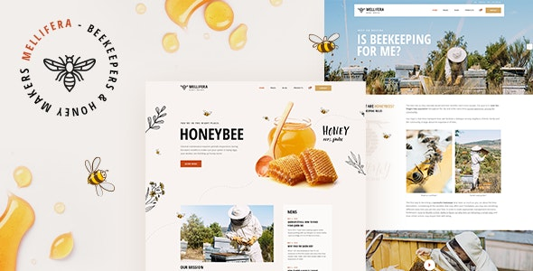 Mellifera - Beekeeping and Honey Shop Theme - Food Retail