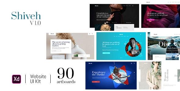 Shiveh | Adobe XD Website UI Kit Version 1.0 - Business Corporate