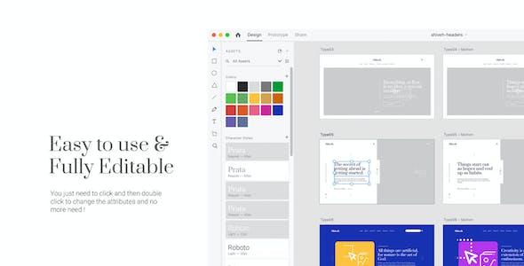 Shiveh | Adobe XD Website UI Kit Version 1.0