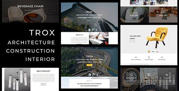 Download Trox_Architecture, Interior, Construction HTML Template