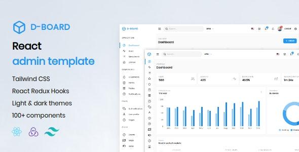 D-board - React Admin Template - Admin Templates Site Templates