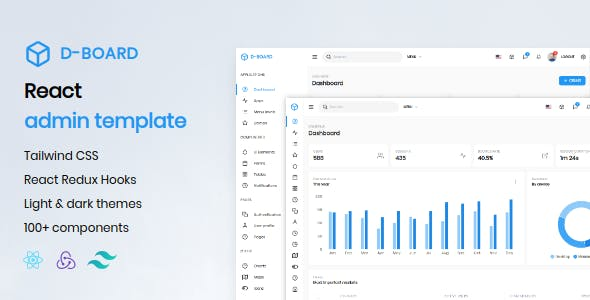 Download D-board - React Admin Template